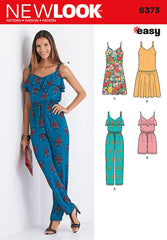 New Look - NL6373 Misses' Jumpsuit & Dresses | Easy - WeaverDee.com Sewing & Crafts - 1
