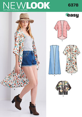 New Look - NL6378 Misses' Kimonos with Length Variations | Easy - WeaverDee.com Sewing & Crafts - 1