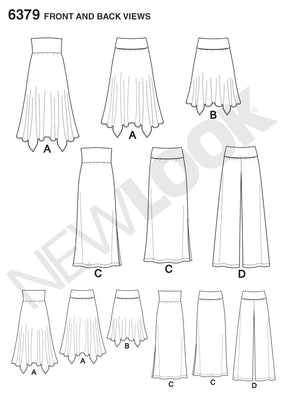 New Look - NL6379 Misses' Pants, Skirt, & Convertible Maxi-Skirt | Easy - WeaverDee.com Sewing & Crafts - 1