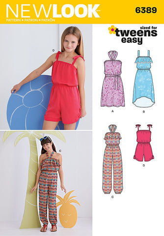 New Look - NL6389 Girls' Jumpsuit, Romper & Dresses | Easy - WeaverDee.com Sewing & Crafts - 1