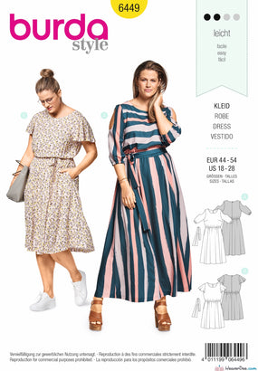 Burda Pattern BD6449 Women's Summer Dress