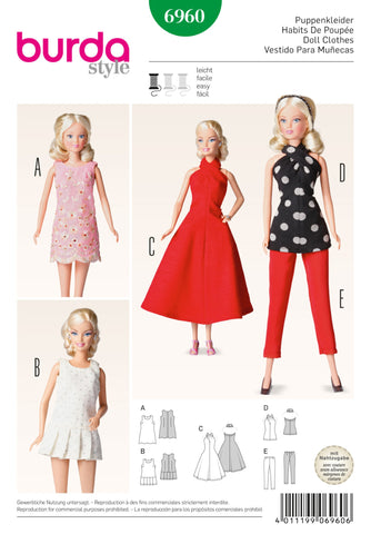 Burda - BD6960 Doll Clothes | Easy - WeaverDee.com Sewing & Crafts - 1
