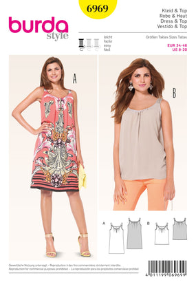 Burda - BD6969 Dress & Top | Easy - WeaverDee.com Sewing & Crafts - 1