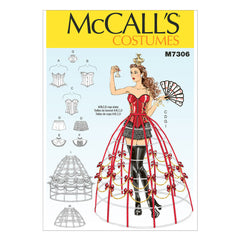 McCall's - M7306 Corsets, Shorts, Collars, Hoop Skirts & Crown - WeaverDee.com Sewing & Crafts - 1