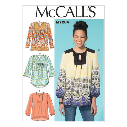 McCall's - M7284 Misses' Tops | Easy - WeaverDee.com Sewing & Crafts - 1