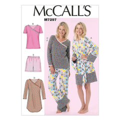 McCall's - M7297 Misses'/Women's Robe, Belt, Tops, Dress, Shorts & Pants | Easy - WeaverDee.com Sewing & Crafts - 1