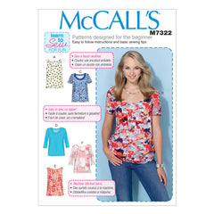 McCall's - M7322 Misses' Pullover Tops | Easy - WeaverDee.com Sewing & Crafts - 1
