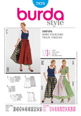 Burda - BD7870 Dirndl Dress - WeaverDee.com Sewing & Crafts - 1