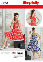 Simplicity - S8051 Misses & Plus Size Vintage 1950's Rockabilly Dresses - WeaverDee.com Sewing & Crafts - 1