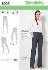 Simplicity - S8056 Amazing Fit Miss & Plus Size Flared Pants or Shorts - WeaverDee.com Sewing & Crafts - 1
