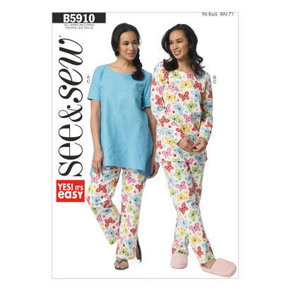 Butterick Pattern B5910 Misses' Top & Pants | See & Sew