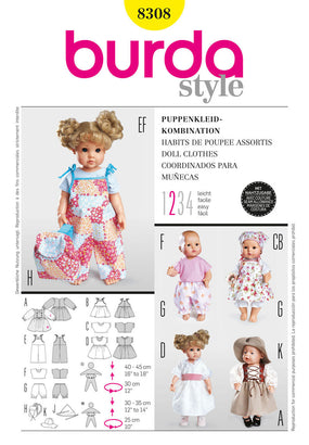 Burda - BD8308 Doll Clothes | Easy - WeaverDee.com Sewing & Crafts - 1