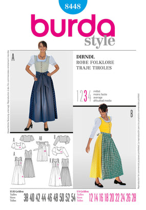 Burda - BD8448 Misses Dirndl Dress - WeaverDee.com Sewing & Crafts - 1