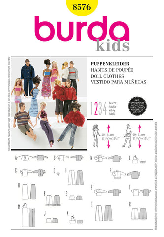 Burda - BD8576 Doll Clothes - WeaverDee.com Sewing & Crafts - 1