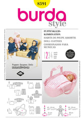 Burda - BD8591 Doll Clothes | Easy - WeaverDee.com Sewing & Crafts - 1