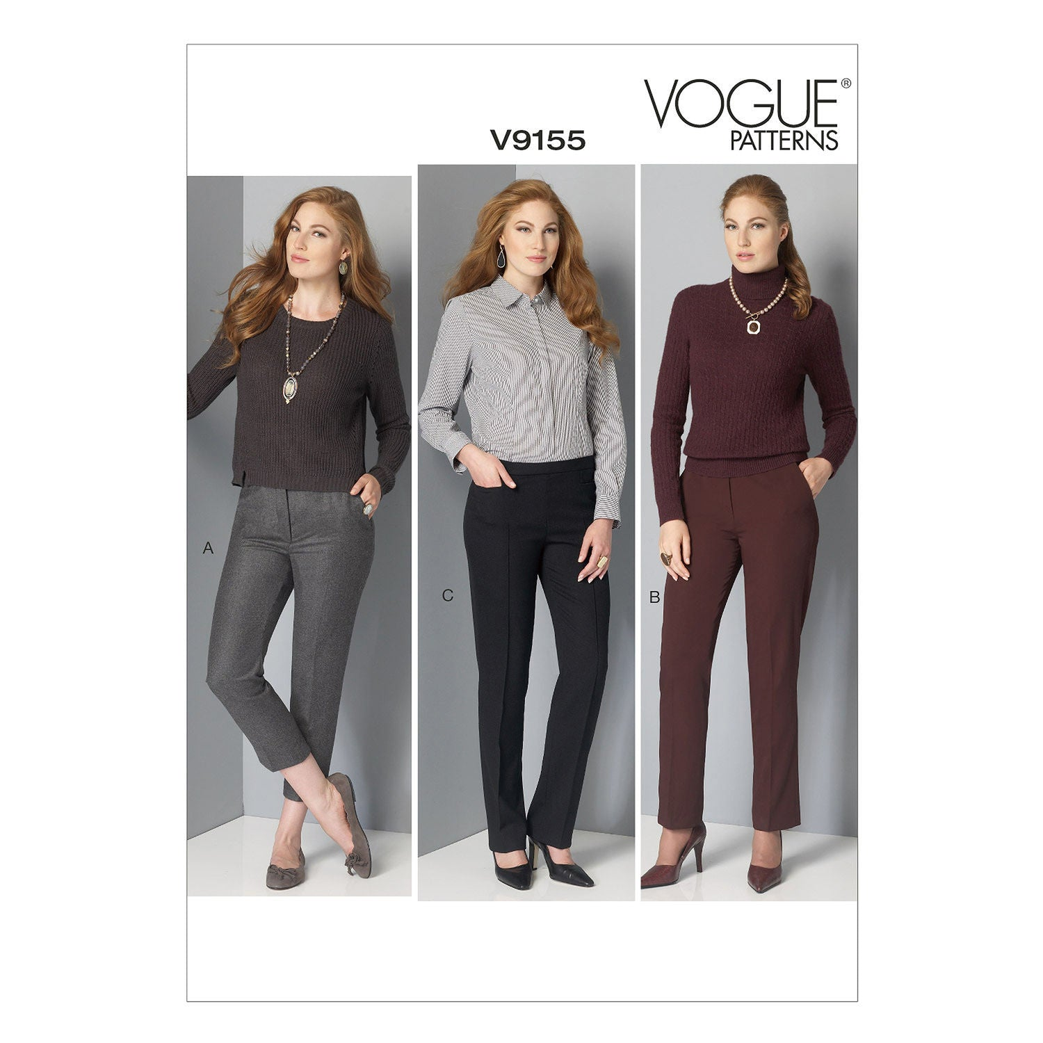 Vogue Easy SEWING PATTERN V9155 Misses /& Misses Petite Trousers//Pants