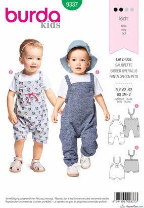 Burda Pattern BD9337 Baby's Bidded Trousers