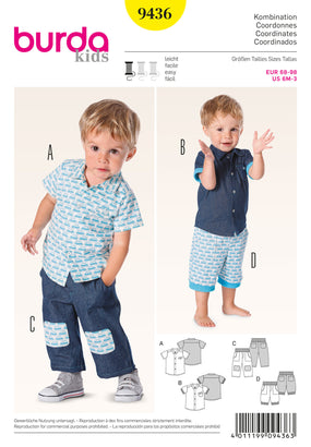 Burda - BD9436 Baby Coordinates | Easy - WeaverDee.com Sewing & Crafts - 1