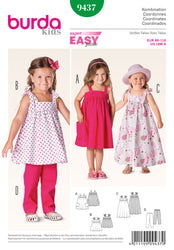 Burda - BD9437 Toddler Coordinates | Easy - WeaverDee.com Sewing & Crafts - 1