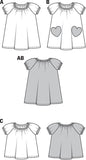 Burda - BD9438 Toddler Dress & Shirt | Easy - WeaverDee.com Sewing & Crafts - 2