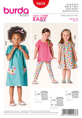 Burda - BD9438 Toddler Dress & Shirt | Easy - WeaverDee.com Sewing & Crafts - 1