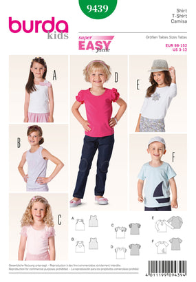 Burda - BD9439 Child T-Shirt | Easy - WeaverDee.com Sewing & Crafts - 1