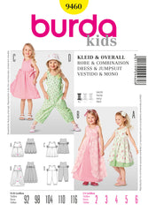 Burda - BD9460 Girls' Dress & Jumpsuit | Easy - WeaverDee.com Sewing & Crafts - 1