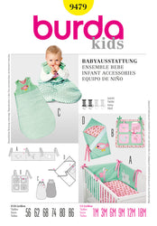 Burda - BD9479 Baby Nursery Accessories - WeaverDee.com Sewing & Crafts - 1