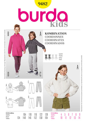 Burda - BD9482 Unisex Childrens' Activewear | Easy - WeaverDee.com Sewing & Crafts - 1