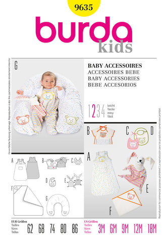 Burda - BD9635 Baby Accessories | Easy - WeaverDee.com Sewing & Crafts - 1
