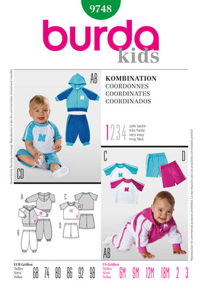 Burda - BD9748 Babies' Sporty Oufits | Very Easy - WeaverDee.com Sewing & Crafts - 1