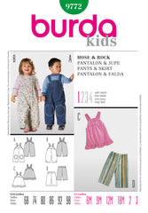 Burda - BD9772 Childrens' Outfits | Very Easy - WeaverDee.com Sewing & Crafts - 1