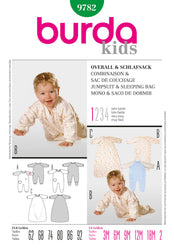 Burda - BD9782 Babies' Onesie & Sleeping Bag | Very Easy - WeaverDee.com Sewing & Crafts - 1