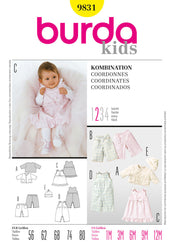 Burda - BD9831 Baby Coordinates | Easy - WeaverDee.com Sewing & Crafts - 1