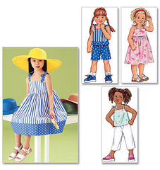 Butterick - B3477 Children's Dress, Top, Short & Pants | Very Easy - WeaverDee.com Sewing & Crafts - 1