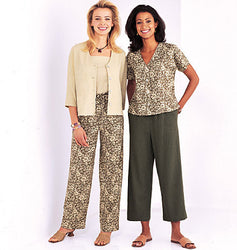 Butterick - B3886 Misses' / Misses'-Petite Jacket & Pants | See & Sew - WeaverDee.com Sewing & Crafts - 1