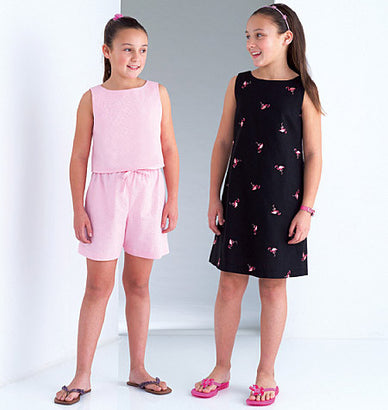 Butterick - B4161 Girls' Top, Dress & Shorts | See & Sew - WeaverDee.com Sewing & Crafts - 1