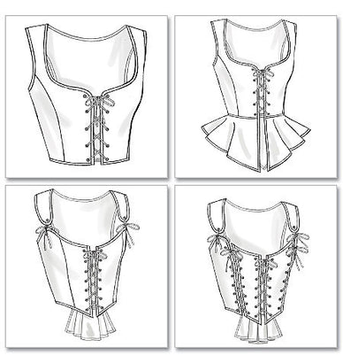 Butterick - B4669 Misses' Historical Corsets - WeaverDee.com Sewing & Crafts - 1
