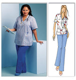 Butterick - B5301 Misses' Doctor / Nurse Scrubs (Top & Pants) - WeaverDee.com Sewing & Crafts - 2