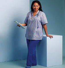 Butterick - B5301 Misses' Doctor / Nurse Scrubs (Top & Pants) - WeaverDee.com Sewing & Crafts - 1