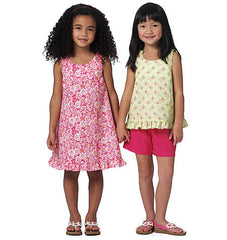 Butterick - B5442 Kid's Top, Dress & Shorts | See & Sew - WeaverDee.com Sewing & Crafts - 1