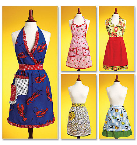 Butterick - B5474 Aprons - WeaverDee.com Sewing & Crafts - 1