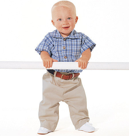 Butterick - B5510 Infants' Shirt, T-Shirt, Pants & Hat - WeaverDee.com Sewing & Crafts - 1