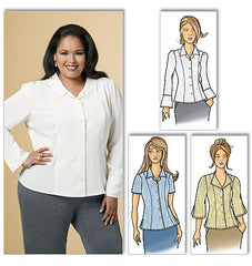 Butterick - B5538 Misses' Blouse | Easy - WeaverDee.com Sewing & Crafts - 1