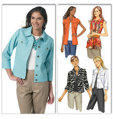 Butterick - B5616 Misses' Jacket - WeaverDee.com Sewing & Crafts - 1