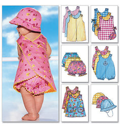 Butterick - B5625 Infants' Romper, Jumper, Panties & Hat - WeaverDee.com Sewing & Crafts - 1