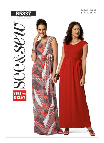 Butterick Pattern B5837 Misses' Petite Dress | See & Sew