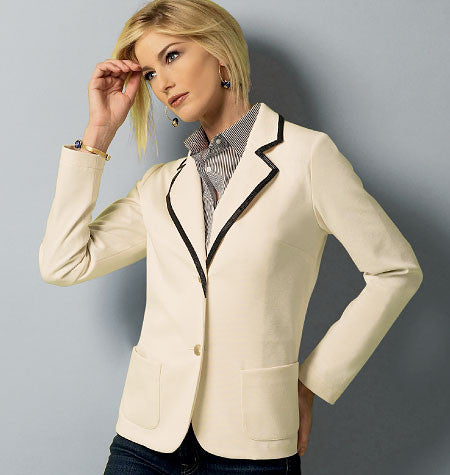 Butterick - B5926 Misses' Petite Jacket | Easy - WeaverDee.com Sewing & Crafts - 1