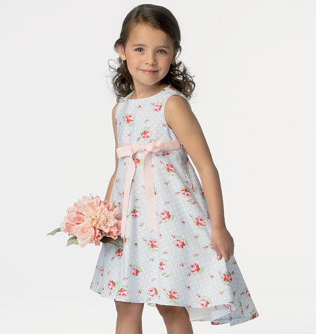 Butterick - B6013 Girls' Dress | Easy - WeaverDee.com Sewing & Crafts - 1