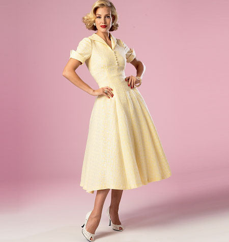 Butterick - B6018 Misses' Vintage 1950's Dress - WeaverDee.com Sewing & Crafts - 1